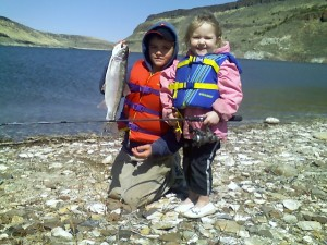 family fishing trip nets some nice trout
