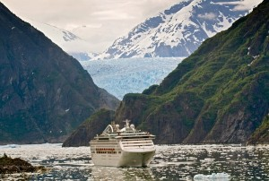 Cruise ship in Alaska - Tracy Arm Fjord