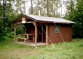 forest service cabin in Alaska