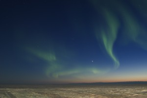 Northern lights over Alaskan fishing trip