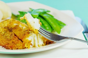 Breaded baked Alaskan halibut recipe